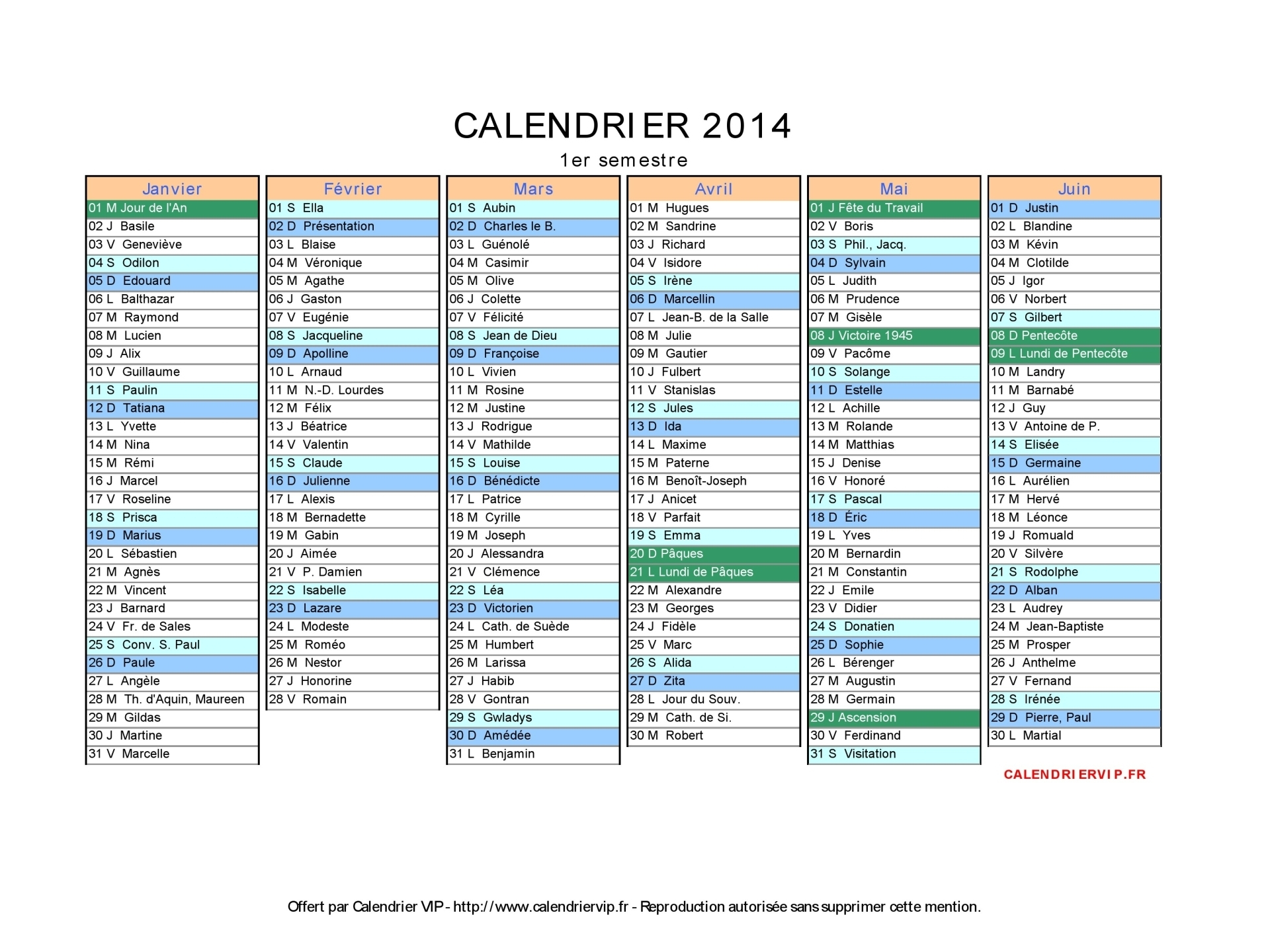 calendrier 2014 imprimer gratuit en pdf et excel. Black Bedroom Furniture Sets. Home Design Ideas