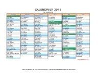 calendrier 2015 complet