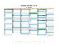 calendrier 2015 vierge