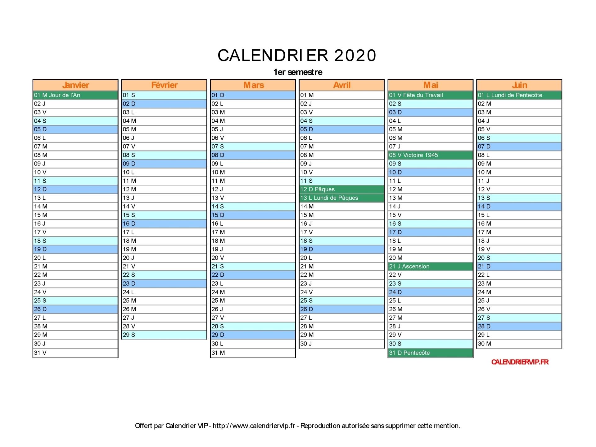 Calendrier Semaines 2020.Calendrier 2020 A Imprimer Gratuit En Pdf Et Excel