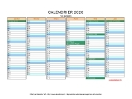 calendrier 2020 vierge