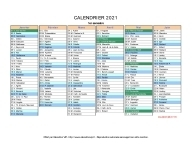 calendrier 2021 complet