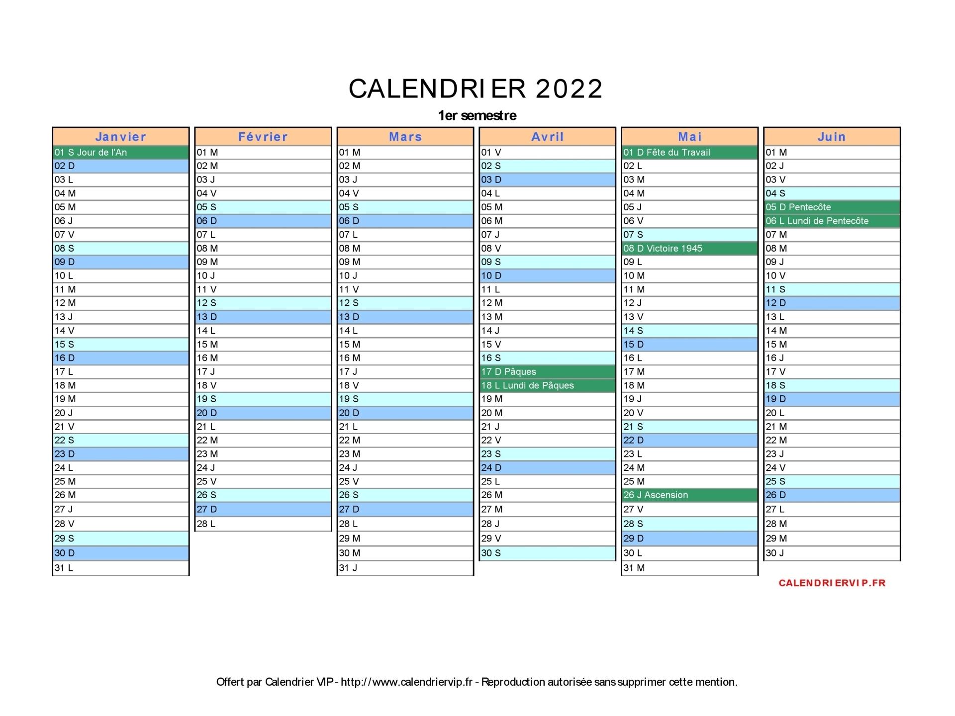 Calendrier 2021 2022 Vierge Calendrier 2022 à imprimer gratuit en PDF et Excel