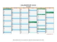 calendrier 2022 vierge