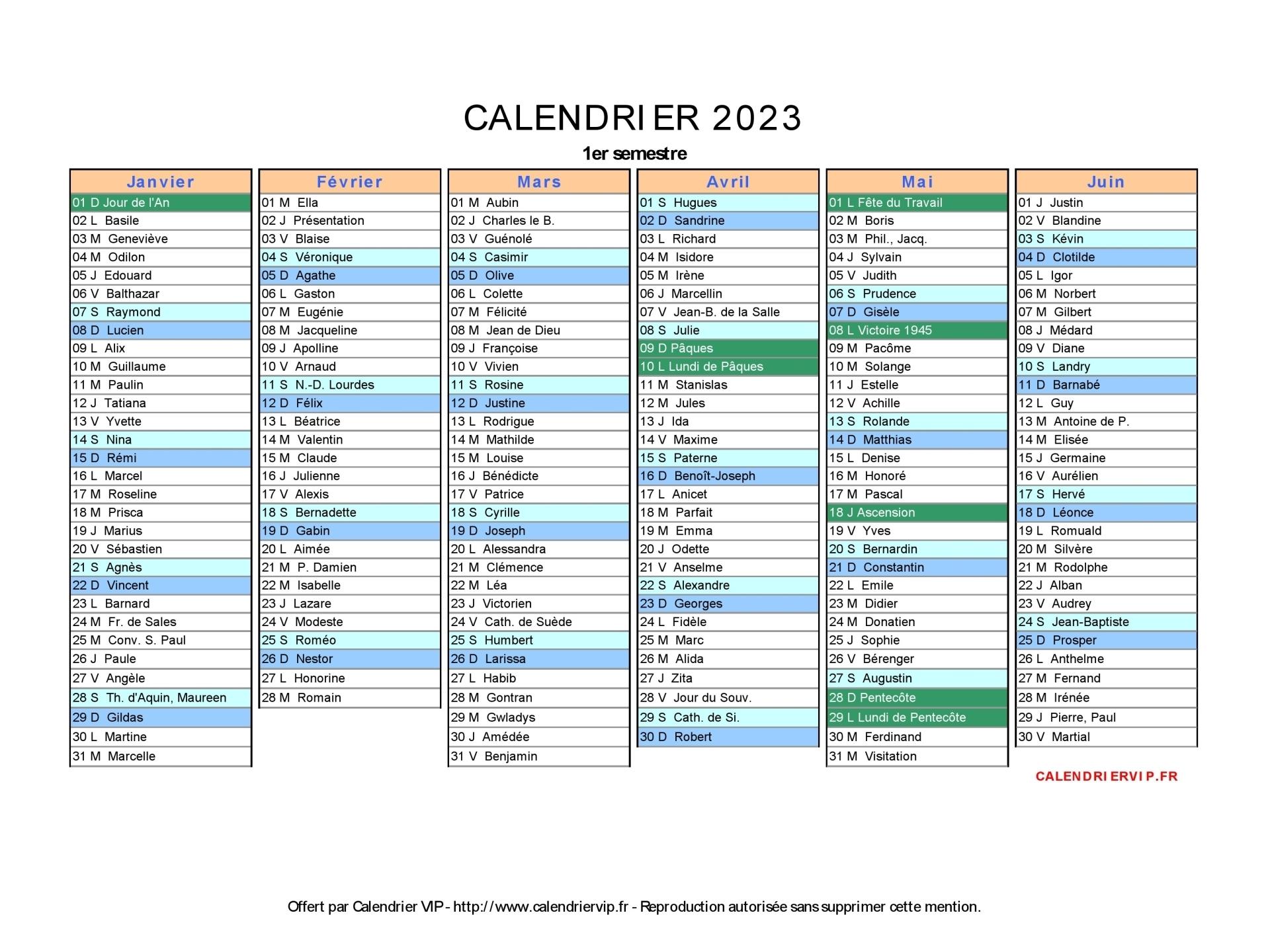 Calendrier 2022 2023 Excel Calendrier 2023 à imprimer gratuit en PDF et Excel