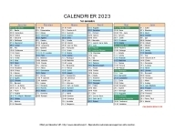 calendrier 2023 complet