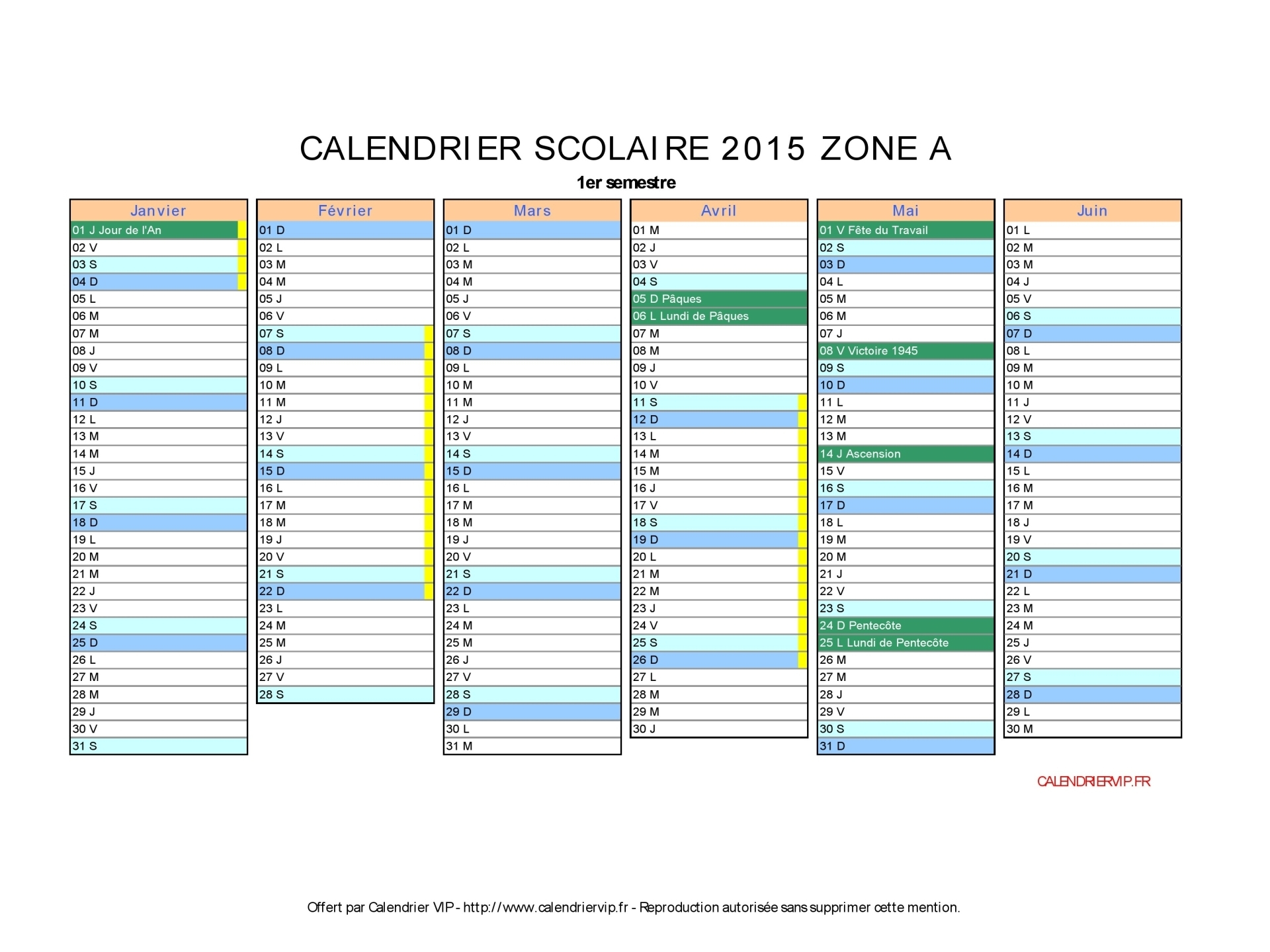 calendrier scolaire 2015 imprimer gratuit en pdf et excel. Black Bedroom Furniture Sets. Home Design Ideas