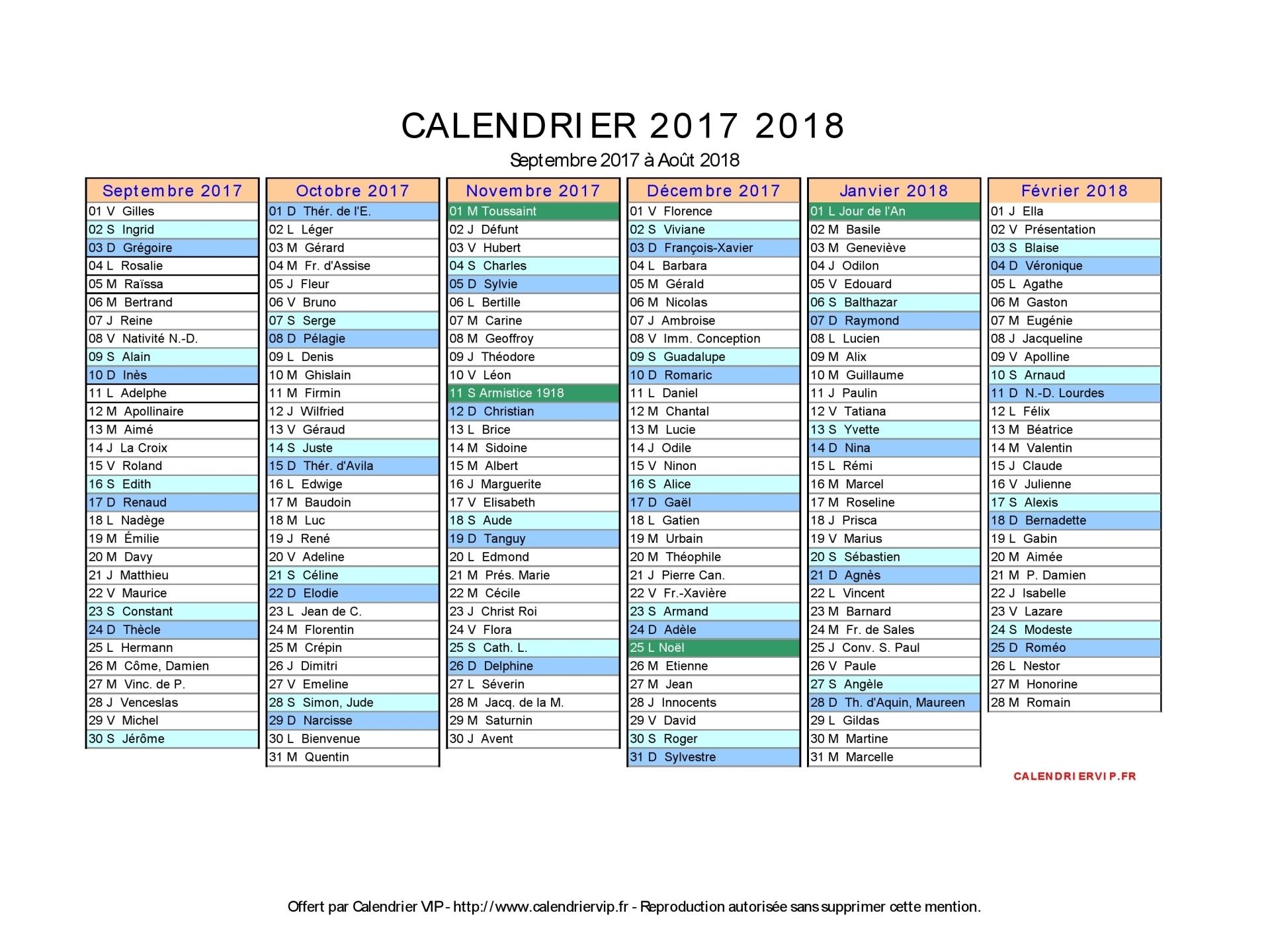 calendrier 2018 a imprimer en pdf