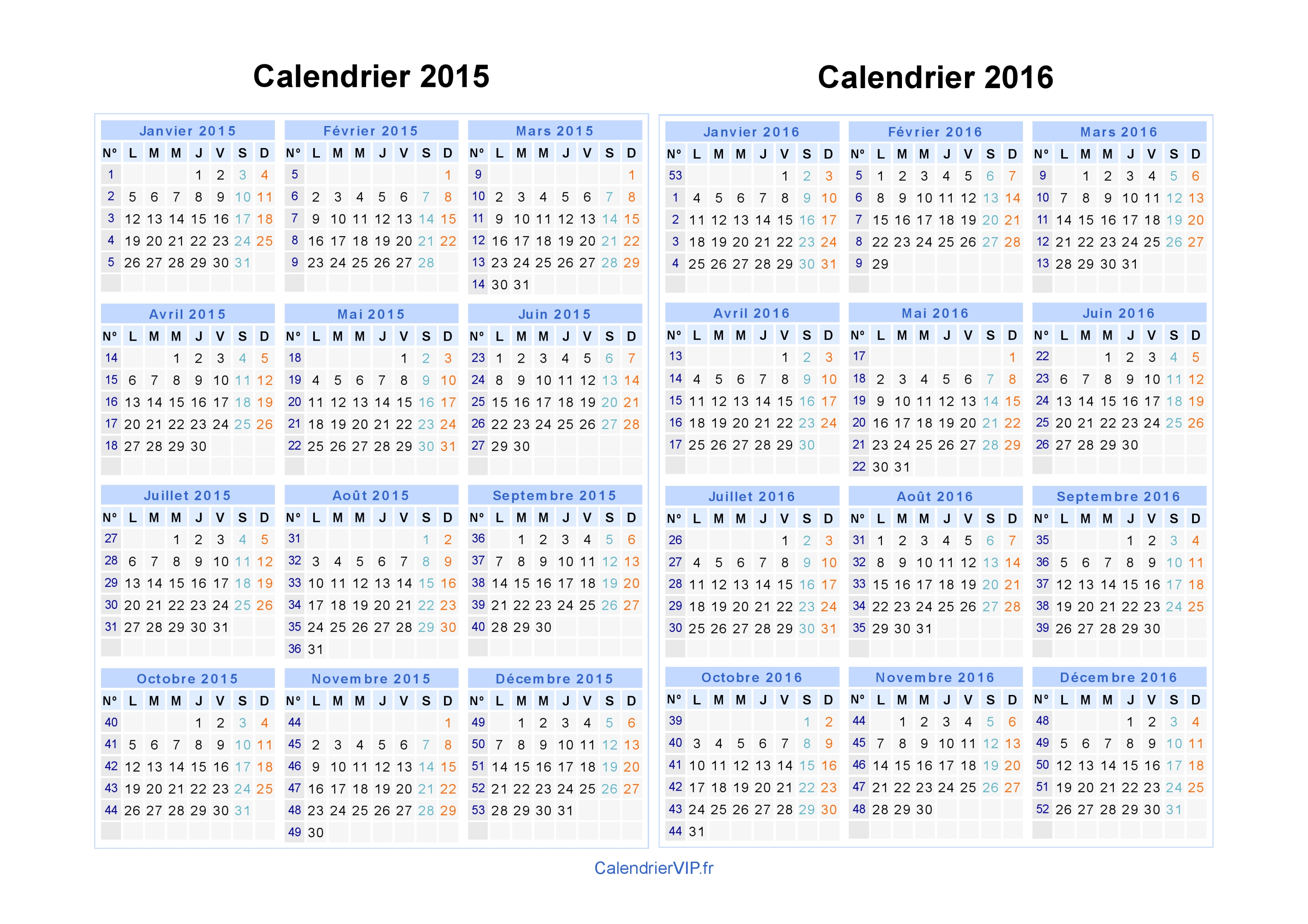 calendrier 2015 2016 imprimer gratuit en pdf et excel. Black Bedroom Furniture Sets. Home Design Ideas