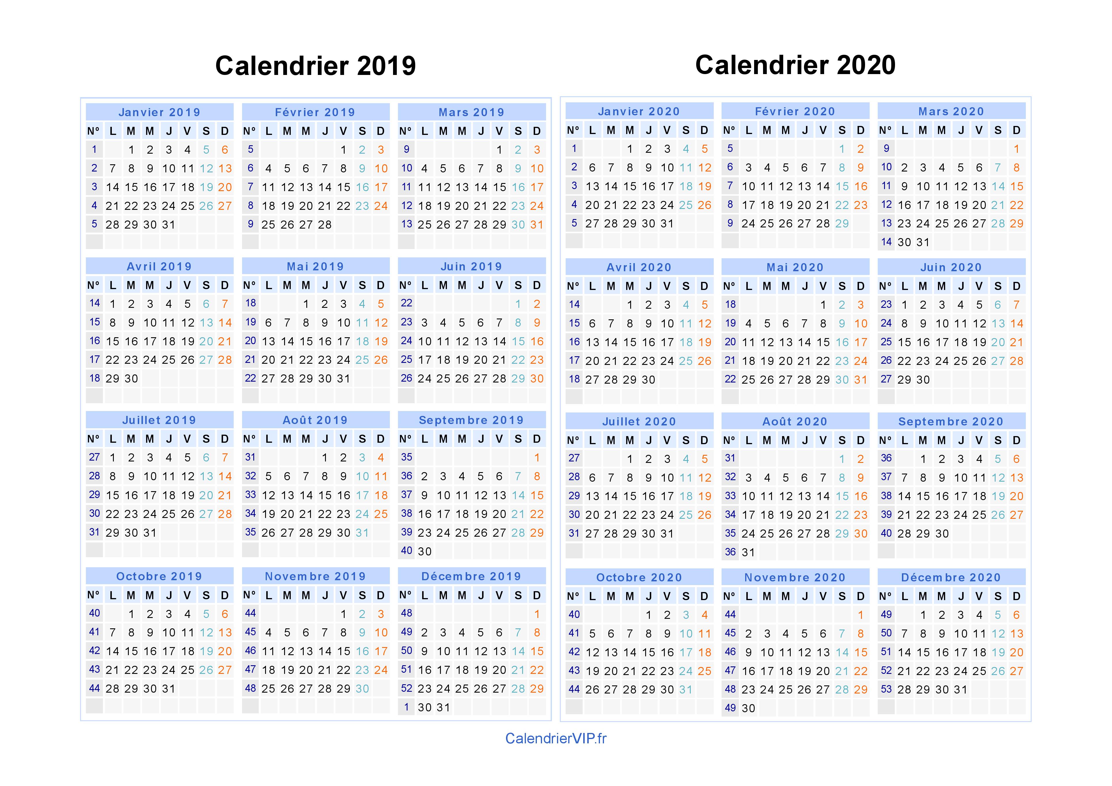 Calendrier Juillet 2020 A Imprimer Gratuit.Calendrier 2019 2020 A Imprimer Gratuit En Pdf Et Excel