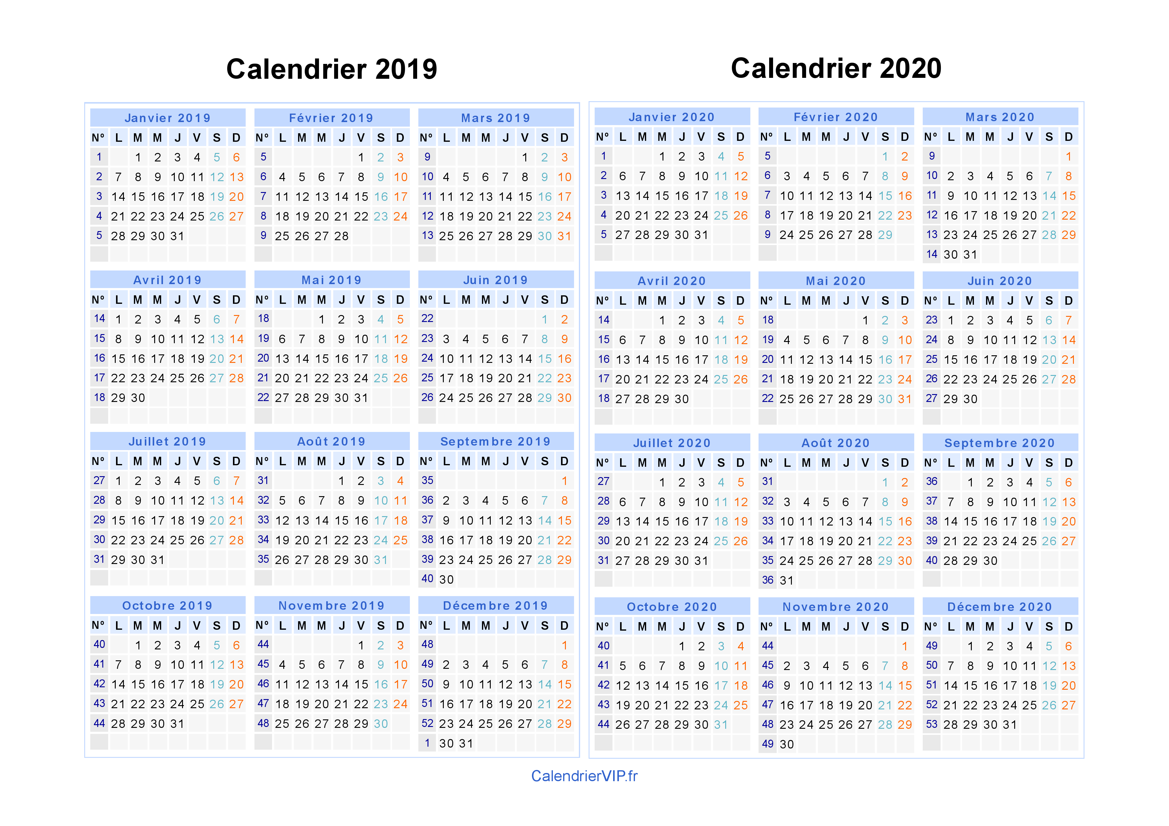 Calendrier A Imprimer Novembre 2020.Calendrier 2019 2020 A Imprimer Gratuit En Pdf Et Excel