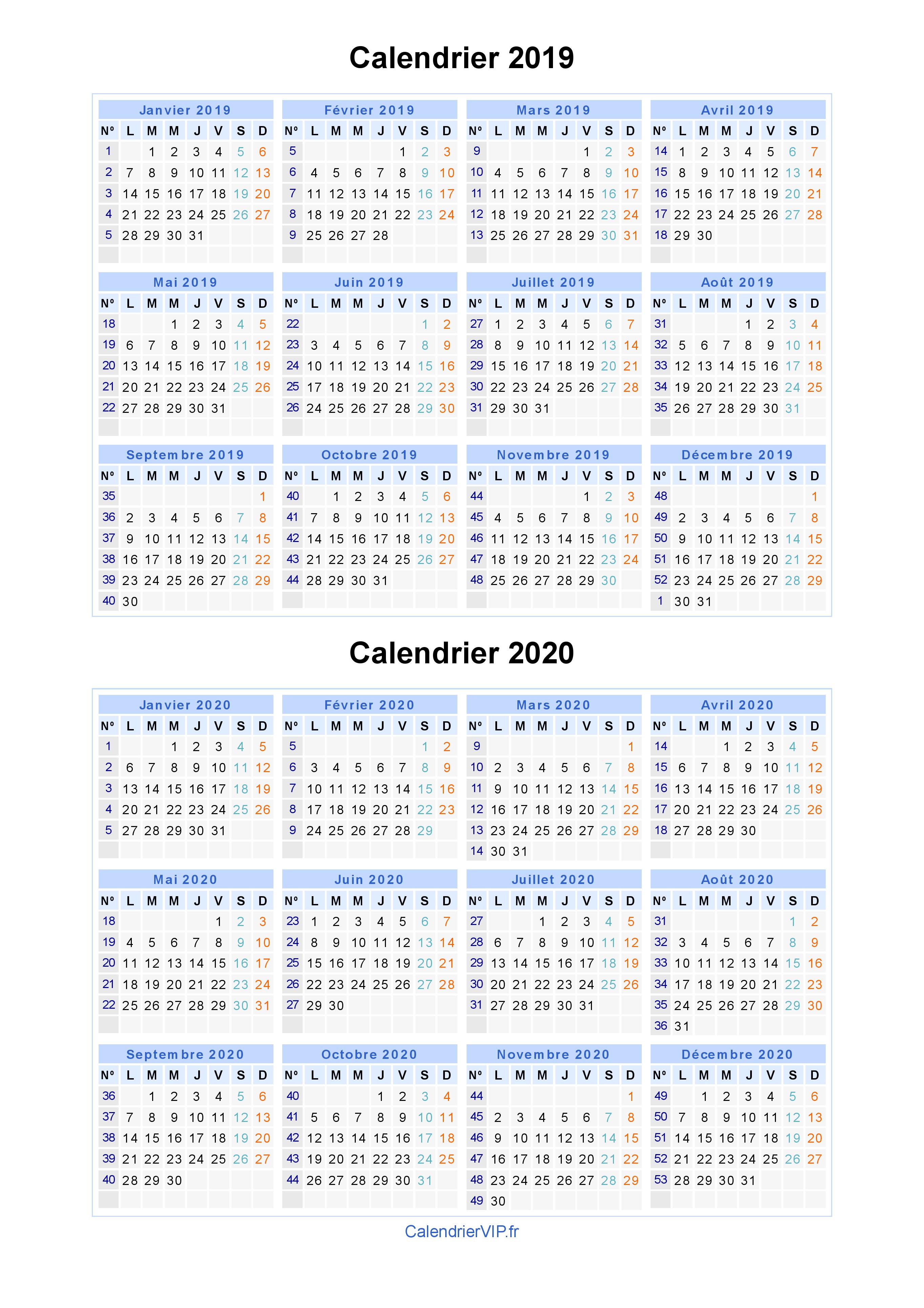 Calendrier Scolaire 20202019 A Imprimer.Calendrier 2019 2020 A Imprimer Gratuit En Pdf Et Excel