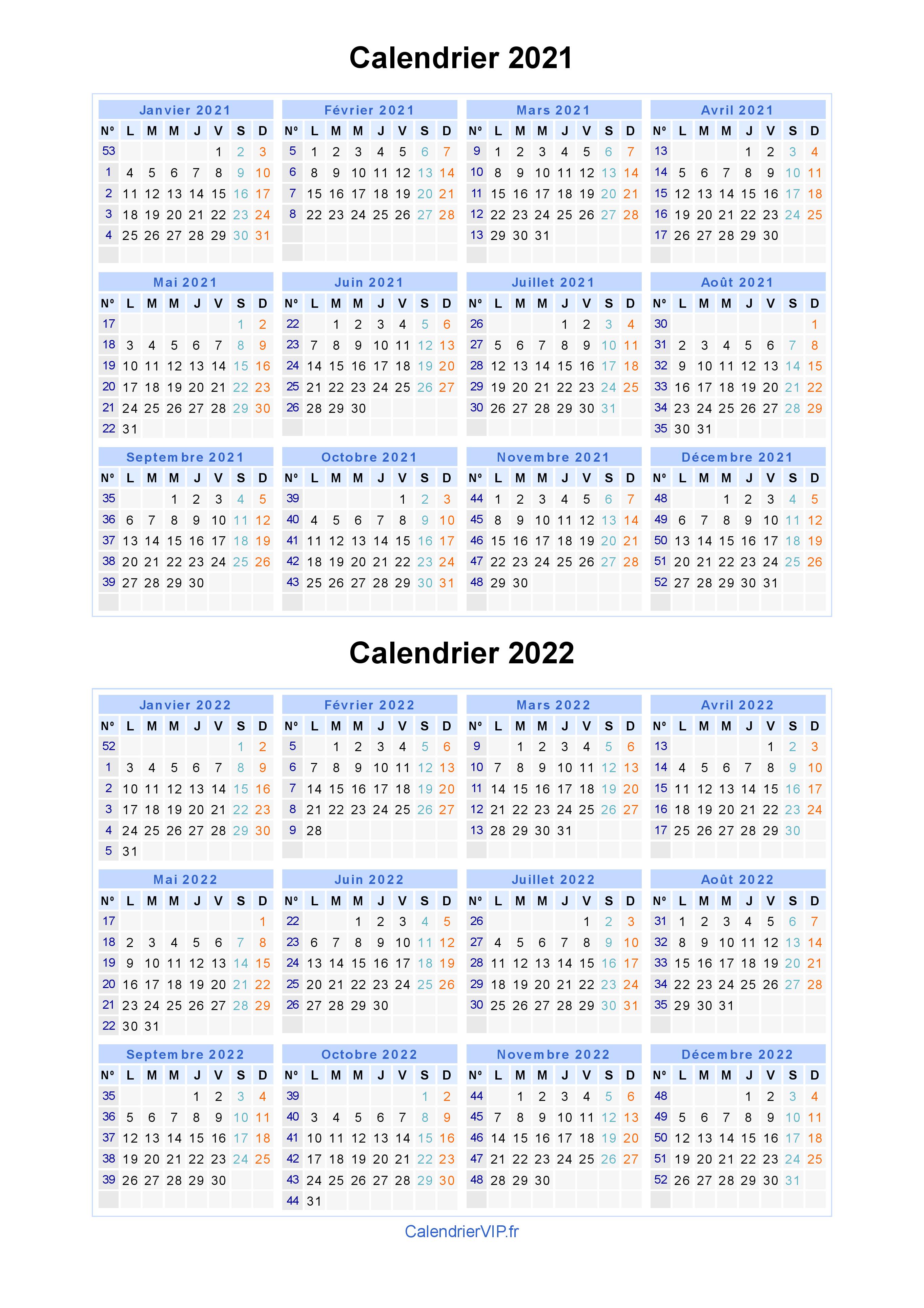 Calendrier 2021 Gratuit.Calendrier 2021 2022 A Imprimer Gratuit En Pdf Et Excel