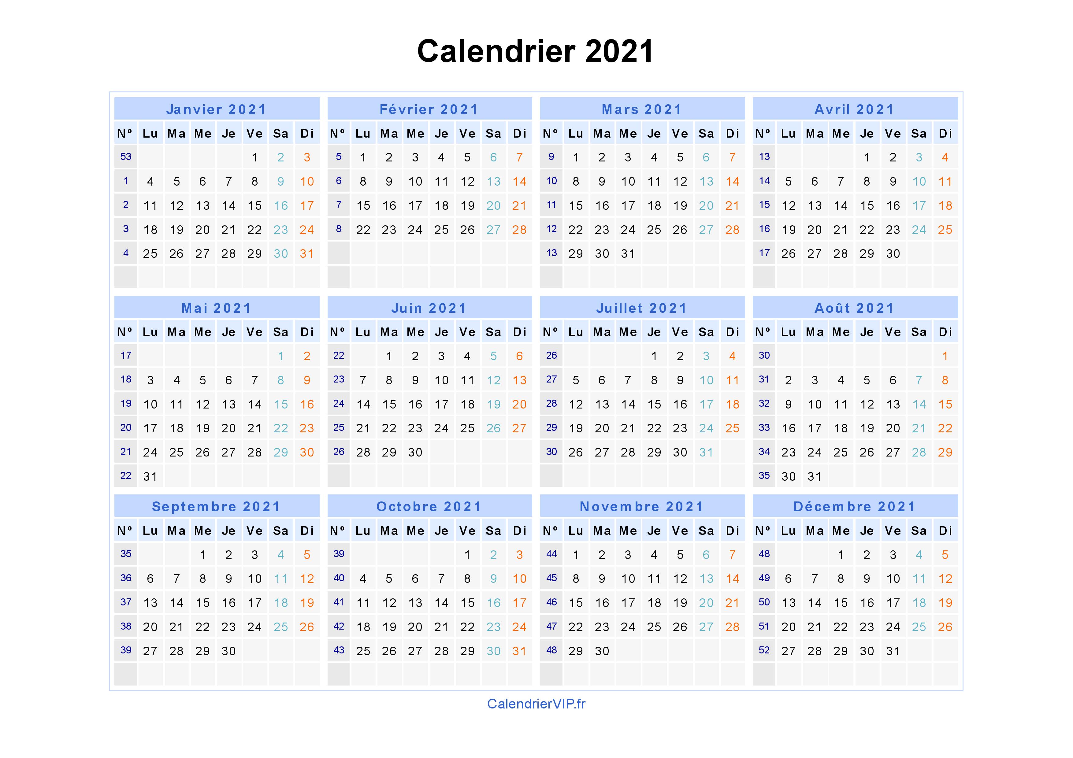 Calendrier 2021 Gratuit.Calendrier 2021 A Imprimer Gratuit En Pdf Et Excel