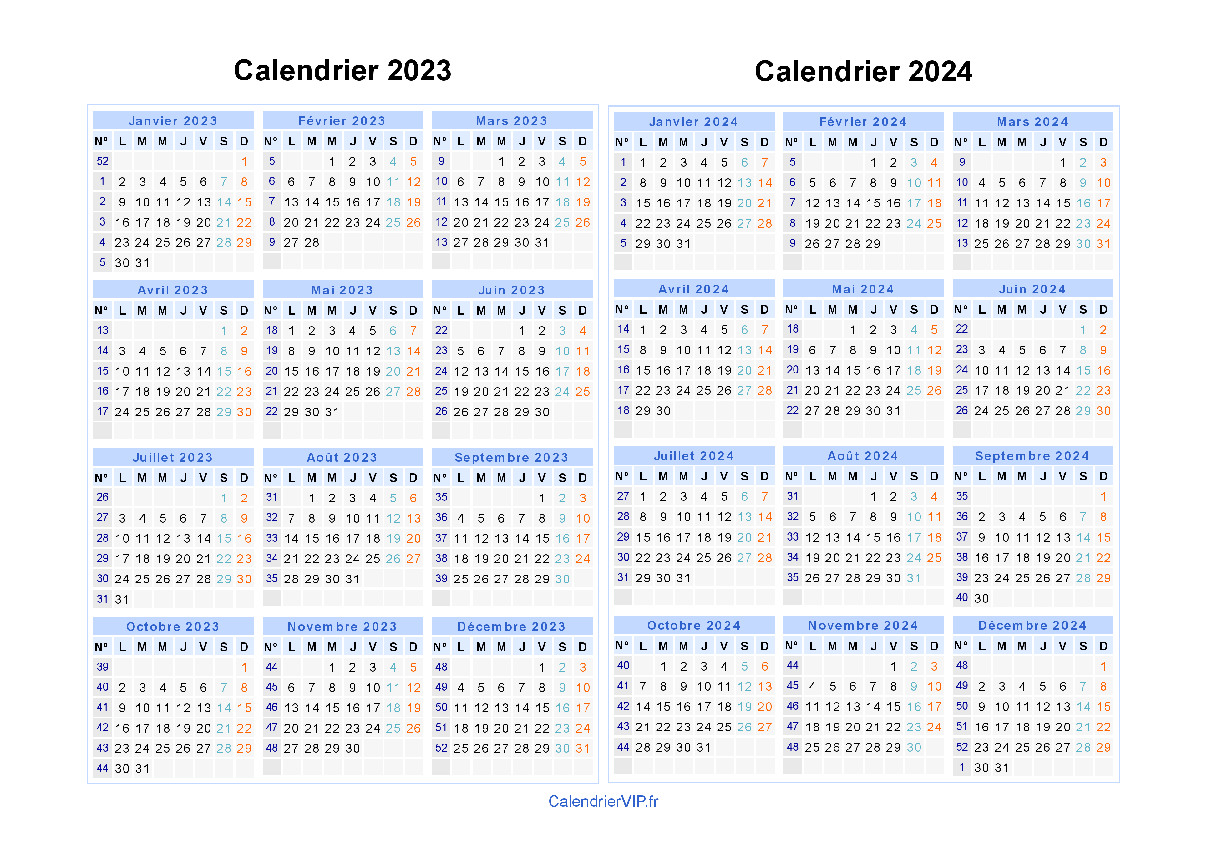 Calendrier 20.Calendrier 2023 2024 A Imprimer Gratuit En Pdf Et Excel
