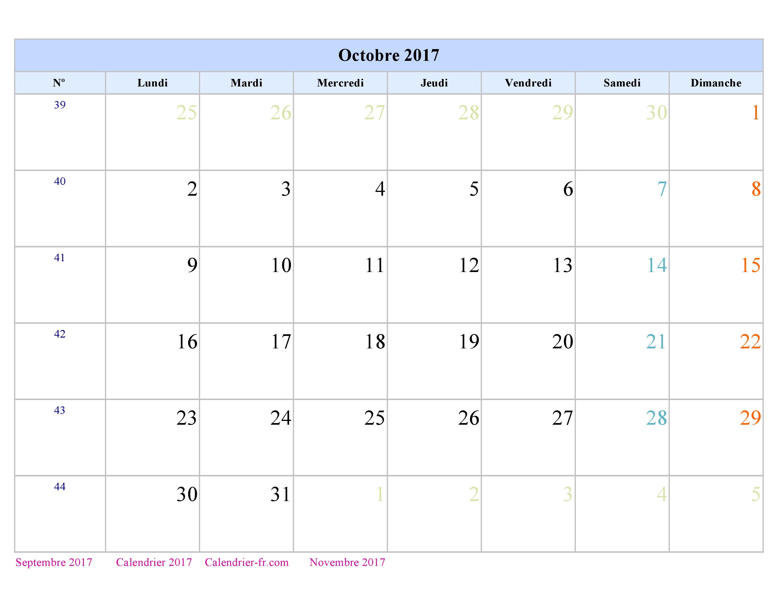 Beautiful calendrier perpetuel a imprimer 7 calendrier octobre 2017 - Calendrier perpetuel a imprimer ...