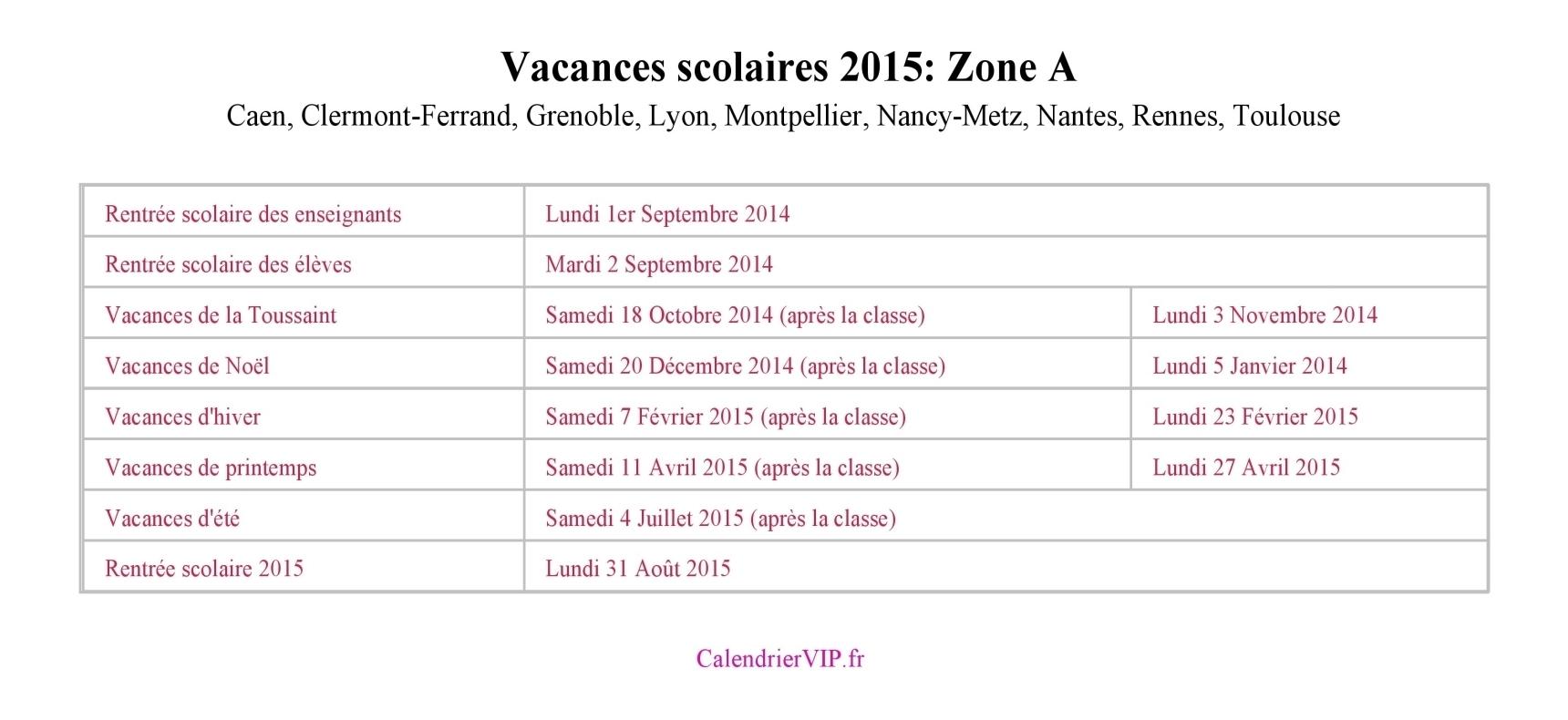 Vacances scolaires 2015 - Vacances scolaires poitiers 2015 ...